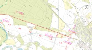 Situační mapa - optimalizovaný úsek - detail Lysá