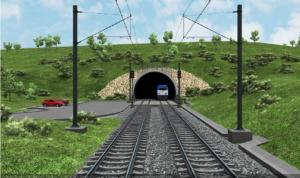 Tunel Deboreč - výjezdový portál
