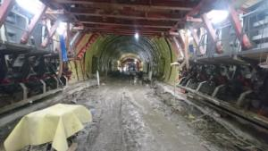 Sudoměřice - Votice: tunel Deboreč; prosinec 2020