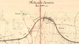 Vrchotovy Janovice, plánek z r.1894