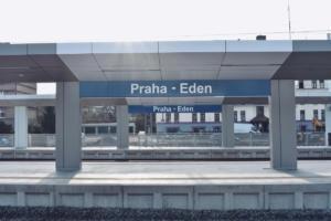 Praha-Eden před otevřením; prosinec 2020