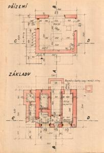 Strašnice - projekt traťového hradla; květen 1949