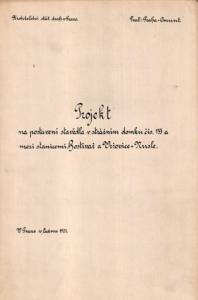 Odb.Záběhlice; strážní domek č. 133a - projekt na postavení stavědla; 1921