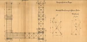 Strašnice - přechodová lávka; 1906