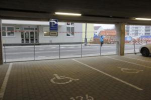 Autobusový terminál a P+R Benešov; prosinec 2020