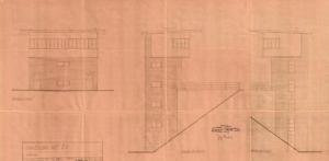 Praha-Vršovice; stavědlová věž St.3; projekt 1947