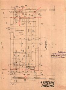 Praha-Vršovice; stavědlová věž St.3; návrh 1946