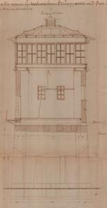 Vršovice-Nusle - původní stavědlová věž St.3 (do r. 1896 St.2)