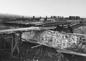 Hostivař - Vršovice: stavba mostů