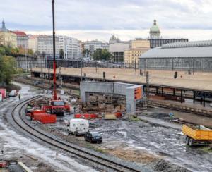Praha hl.n. - prodloužení severního podchodu; listopad 2020