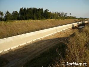 Modernizace trati Sudoměřice - Votice; zářez Lipiny; úsek Sudoměřice - Mezno