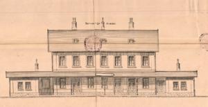 Sedlčany - výpravní budova, 1893