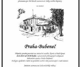 Smuteční slavnost nádraží Bubeneč – pozvánka