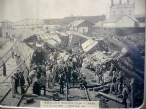 Srazka vlaku v Tabore 3.7.1895