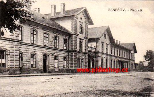 Benešovské nádraží v r.1928