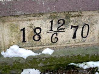 Základní kámen staniční budovy v Heřmaničkách