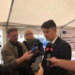 Slavnostní zahájení stavby Soběslav - Doubí (zdroj: Twitter Jiřího Svobody, GŘ SŽDC)