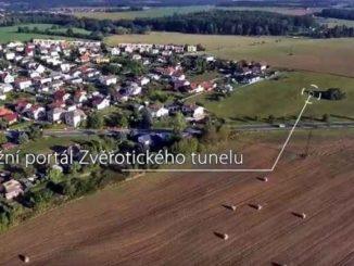 Soběslav-Doubí z dronu (výřez z prezentačního videa)
